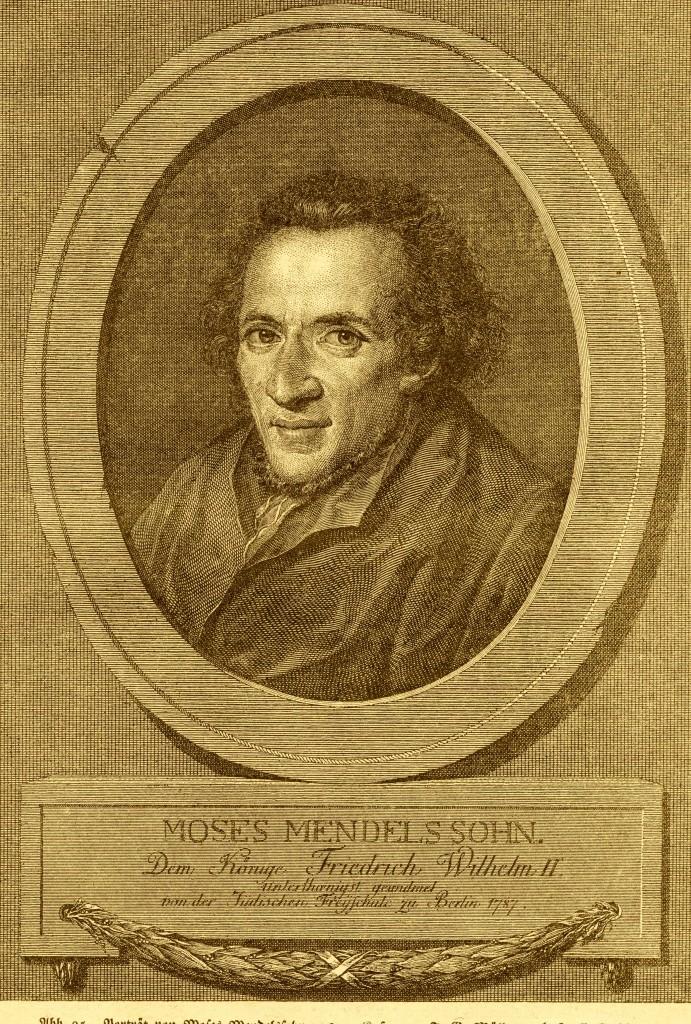 42 Moses Mendelssohn, Kupferstich von Müller, 1773 u. 1774