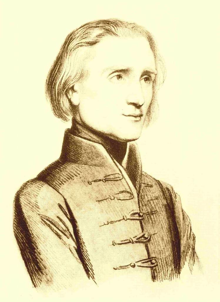 75a Franz Liszt, Zeichnung von Vogelstein, 1830