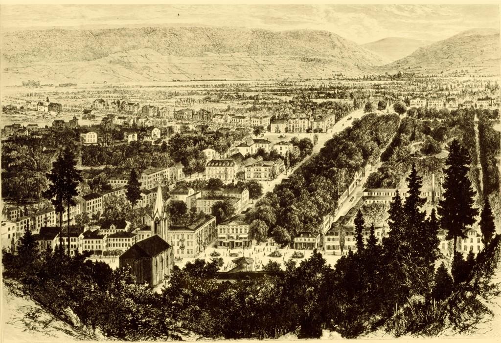 90, Geißler, Blick auf Pyrmont 1890
