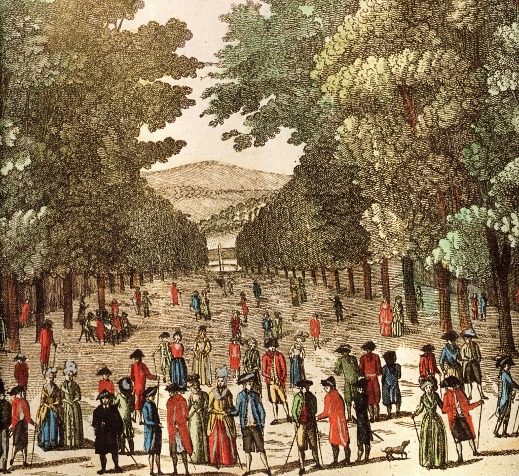 Bad Pyrmont, Hauptallee nach Marcard 1784