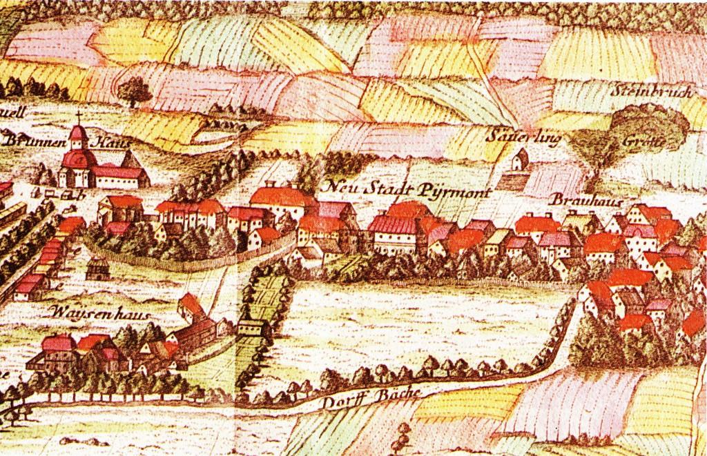 Bad Pyrmont, Neustadt nach Seuter 1738