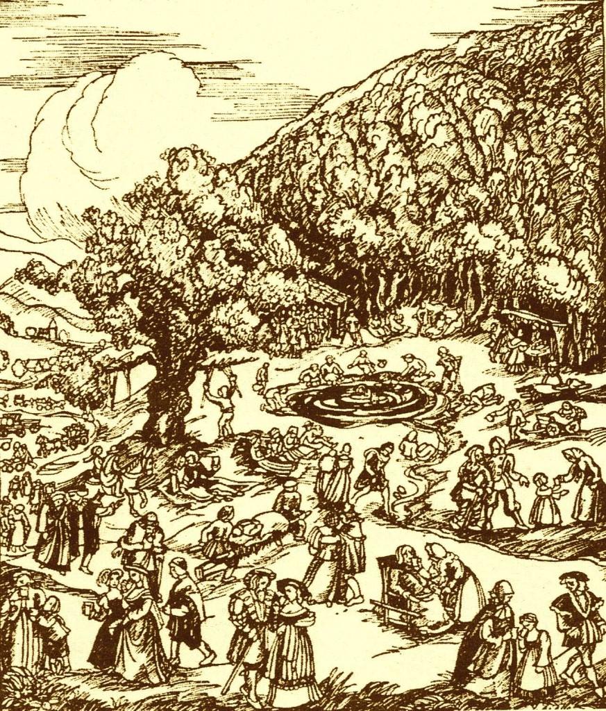 Bad Pyrmont, Wundergeläuf 1556, Zeichnung Gerda Riege