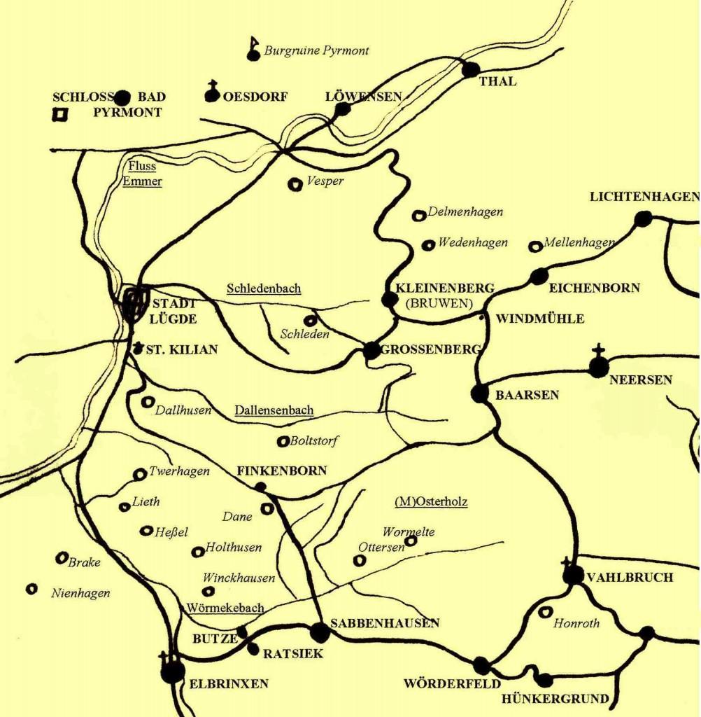 Karte Grafschaft Pyrmont