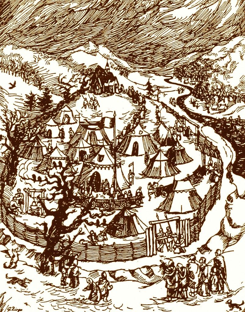Kilianskirche, Winterlager Karl der Große 784, Gerda Riege