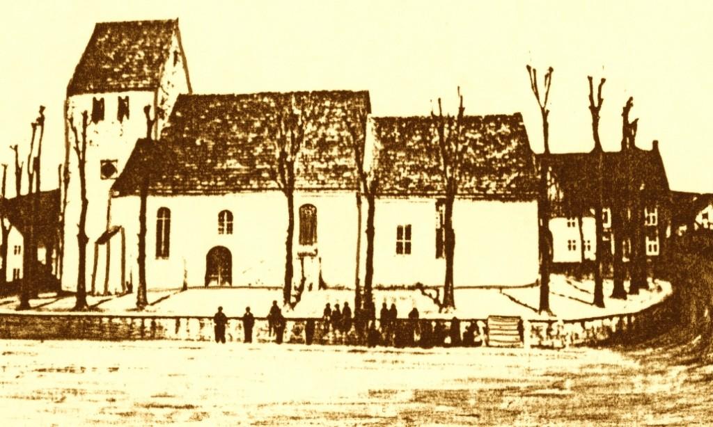 Oesdorf, alte Kirche um 1870