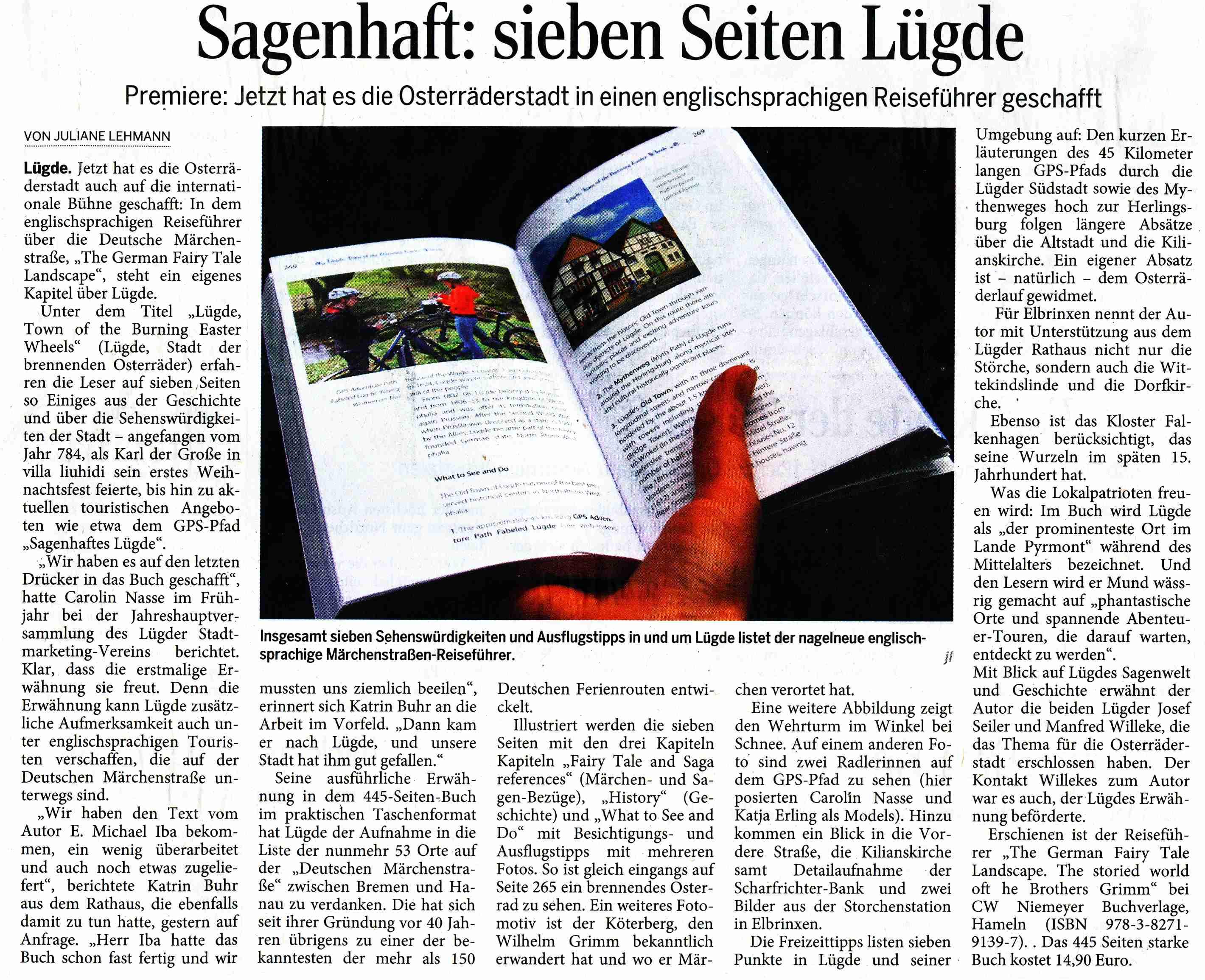 Pyrmonter Nachrichten, 11. August 2015