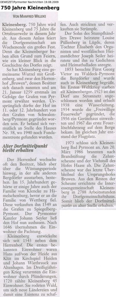 ZeitungKleinenberg19082009