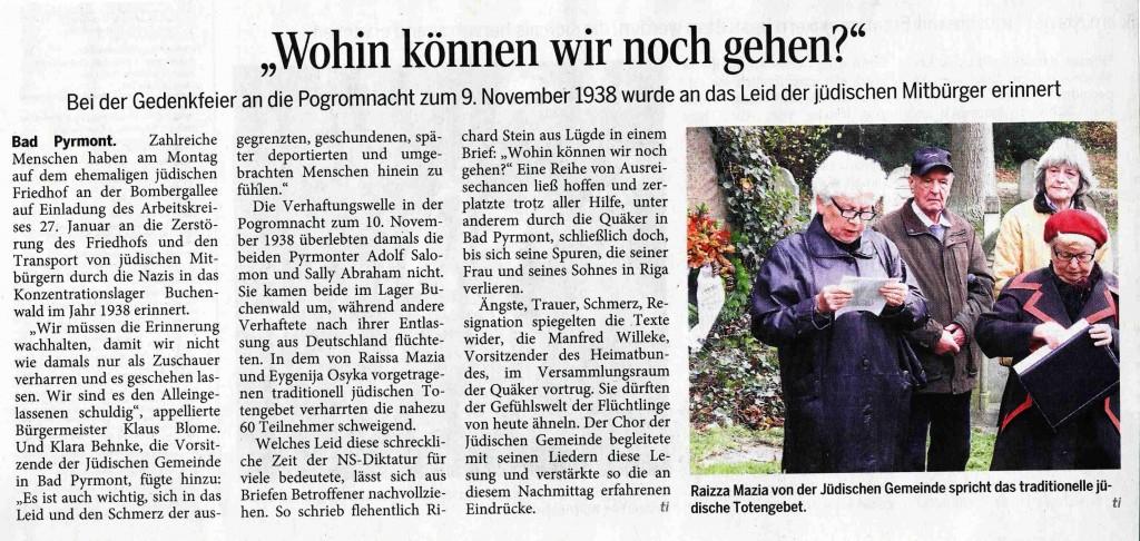 Pyrmonter Nachrichten, 10. November 2015